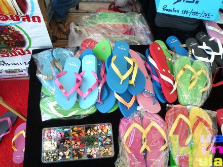 cho-i-ce ร้านรองเท้าแตะออกแบบเองได้ ตลาดนักตะเกียง